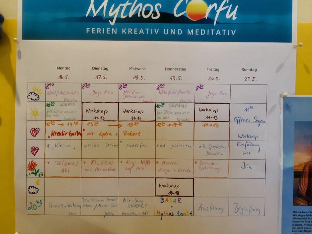 Mythos Corfu offenes Programm